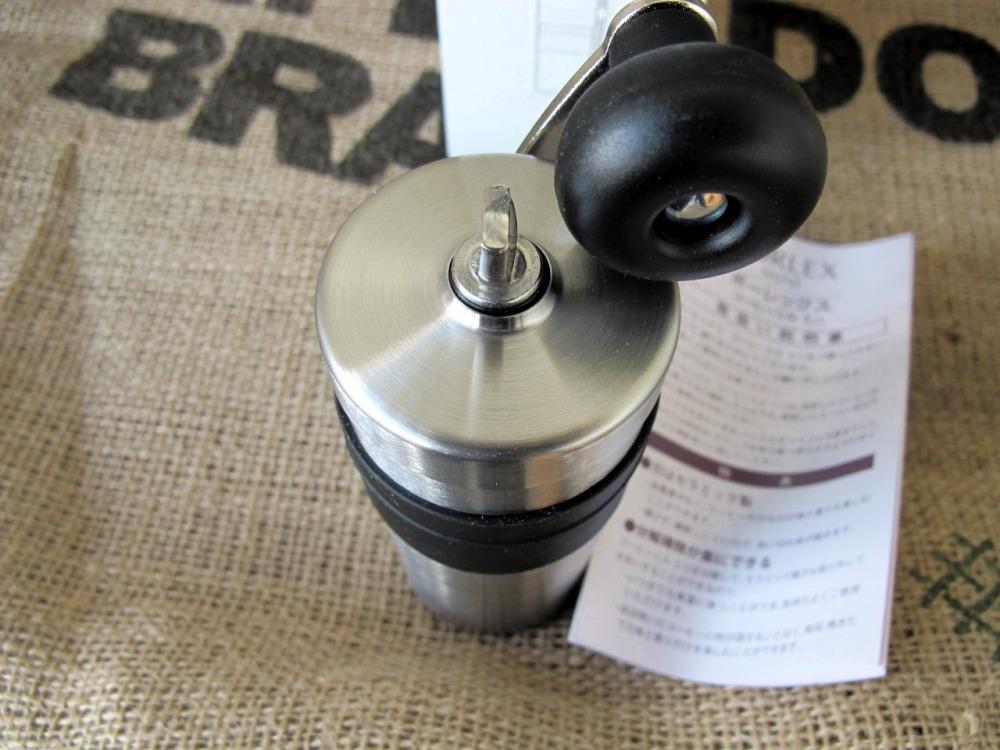 Ручная кофемолка из нержавеющей стали Porlex Mini JP-20 вид сверху